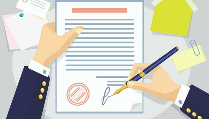 A landlord signing his lease contract confidently as a Gavel and Page contract lawyer gave him or her comprehensive advice to the necessary terms and conditions to protect his or her interests.