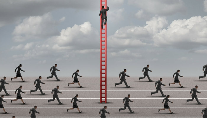 Man climbing ladder representing how Gavel & Page's approach to property law is different to every other law firm